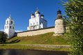 Pskov kremlin russia golden ring of russia Stock Images