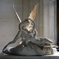Psyche and cupid eros in the louvre paris this statue shows bringing back to life after she was killed in a jealous Royalty Free Stock Photo
