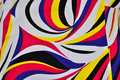 Psychedelic background abstract colorful fabric pattern Royalty Free Stock Image