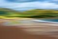 Psychedelic background based on blured landscape image