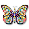 Psychedelic Butterfly Royalty Free Stock Photo