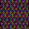 Psychedelic Circles On A Black...