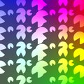 Psychedelic Colored Floral Type Seamless pattern