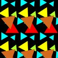 Psychedelic Colored Geometric Seamless pattern Design And Background