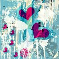 Psychedelic colored graffiti pattern illustration