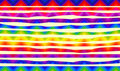 Psychedelic colorful stripes for banners Royalty Free Stock Photo
