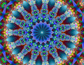 Psychedelic fractal Royalty Free Stock Image