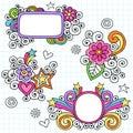 Psychedelic Frames Notebook Doodle Vector