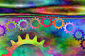 Psychedelic Gears  Royalty Free Stock Photos
