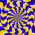Psychedelic optical spin illusion vector background Royalty Free Stock Photo