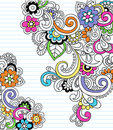 Psychedelic Paisley Notebook Doodle Vector