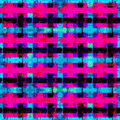 Psychedelic pink blue and black polygons. geometric background. grunge effect Royalty Free Stock Photo