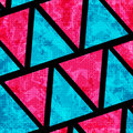 Psychedelic pink and blue polygons grunge effect beautiful geometric background vector eps Stock Photography