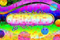 Psychedelic Retro Background and Banner Royalty Free Stock Photo
