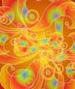 Psychedelic Retro Swirls Red