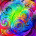 Psychedelic season a pattern is featured in an abstract background illustration Stock Photo