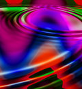 Psychedelic sound waves Stock Photos
