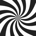 Psychedelic spiral with radial gray rays. Swirl twisted retro background. Comic effect  illustration Royalty Free Stock Photo