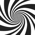 Psychedelic spiral with radial gray rays. Swirl twisted retro background. Comic effect vector illustration Royalty Free Stock Photo