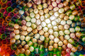 Psychedelic straws colorful drinking creating an interesting background macro Royalty Free Stock Photo