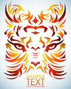 Psychedelic tiger vector tattoo eyes isolated easy edit Royalty Free Stock Photography