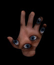 Psychic hand artwork that is kind of occult in appearance Royalty Free Stock Photos