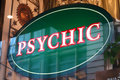 Psychic sign a in new york city Stock Photo