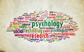 Psychology design vintage symbol text mental health sign conceptual Stock Image