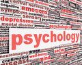 Psychology message conceptual design Royalty Free Stock Images