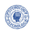 Psychology rubber stamp Stock Photo