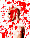 Psychotic With Blood Royalty Free Stock Images