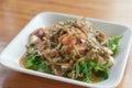 Pteridium aquilinum (L.) seafood thai style salad