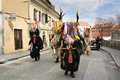 Ptuj kurents carnival mask slovenia march kurent is slovene old traditional with bells and dressed in fur they chasing away the Royalty Free Stock Photos