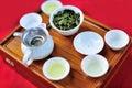 Pu er tea a drink utensils Stock Photos