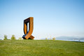 Public art in kits point vancovuer bc Royalty Free Stock Image