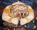 Public Art Painting at Wat Phra Kaew Stock Images