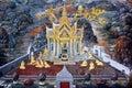 Public Art Painting at Wat Phra Kaew Royalty Free Stock Photography