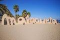 The public beach in Malaga, Spain Royalty Free Stock Photo