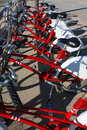 Public bicycle parking, Barcelona Royalty Free Stock Photography