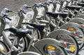 Public bicycle rental in Paris Royalty Free Stock Photography