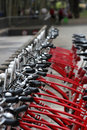 Public bicycles Stock Photo