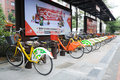 Public bicycles in Nanhai Stock Images