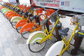 Public bicycles in Nanhai Royalty Free Stock Image