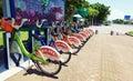 Public bike in china rental system Stock Image