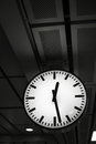Public clock in railway station Stock Photos