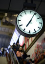 Public clock in railway station Royalty Free Stock Images