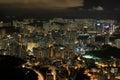 Public Estate of Hong Kong in night Royalty Free Stock Photo