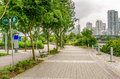Public Footpath in Downtown Vancouver Royalty Free Stock Photo