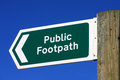 Public footpath sign Royalty Free Stock Image