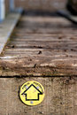 Public footpath sign on wooden walkway Stock Photography